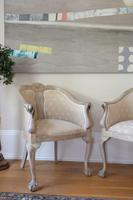 Pair of Late 19th Century French Part Upholstered Painted Tub Chairs (3 of 23)