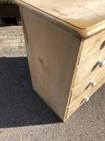 Antique Pine Two Over Three Chest of Drawers (10 of 11)