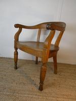 19th Century Oak Desk Chair (2 of 10)
