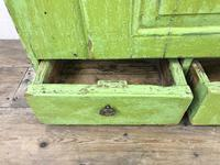 Rustic Antique Green Painted Wall Cupboard (4 of 11)