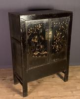 Lacquered hand painted provincial Chinese wedding cabinet (2 of 7)