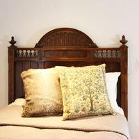 Gothic Style Single Walnut Antique Bed (5 of 8)