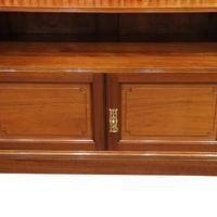 Pair Edwardian Walnut Open Bookcases (4 of 11)