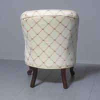 Antique Victorian Upholstered Mahogany Armchair (4 of 7)