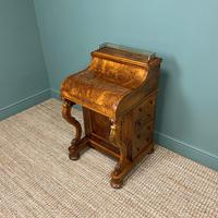 Sensational Victorian Burr Walnut Piano Top Antique Davenport Desk (5 of 10)