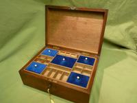 Solid Figured Oak Jewellery / Work Box - Fitted Tray (10 of 10)