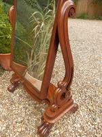 Cheval mirror, Victorian, free standing. (2 of 9)