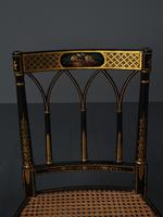 Set of 3 Regency Style Painted Bergere Chairs (7 of 18)