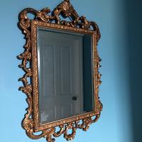 Victorian Gesso Wall Mirror