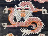 Antique Tibetan Dragon Rug (7 of 9)