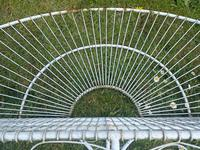 Pair of Art Deco Style Peacock Design Garden Curved Benches (35 of 35)