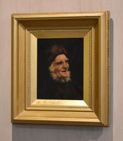 Victorian Oil Painting of an Old Man Smiling