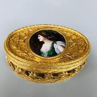 High quality gilt & Limoges enamel miniature box