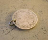 Georgian Pocket Watch Chain Fob 1835 Antique Silver Threepence Old 3d Coin Fob (3 of 6)
