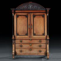 Late 18th Century Neoclassical Dutch Oak Linen Press of Wonderful Colour (6 of 6)