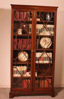 Georgian Glassed Bookcase in Mahogany & Inlays - 18th Century English