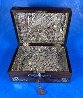 Victorian Jewellery Box with Mother of Pearl Inlay (12 of 13)