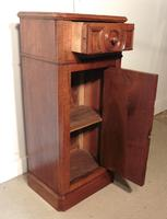 French Figured Walnut Bedside Cupboard or Night Table (6 of 6)