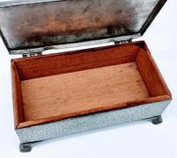 Antique Arts & Crafts Art Deco Hammered Pewter Cigarette Box (8 of 9)