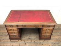 Antique Kneehole Desk (2 of 12)