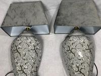 Pair Chinese Cantonese Porcelain Table Lamps With Shades Lighting Christmas Gift (6 of 51)