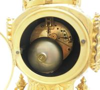 Antique 8 Day Ormolu Mantel Clock Sevres Gothic Knight Tower French Mantle Clock (5 of 8)