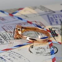The Antique 1919 Rose Gold Garnet Ring (4 of 5)