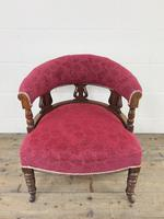 Pair of Victorian Mahogany Upholstered Tub Chairs (6 of 15)
