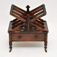 Antique Regency Rosewood Canterbury  Magazine Stand (2 of 12)
