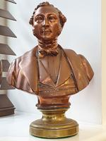 Superb Rare Large 19th Century Photo Sculpture Copper Bust by Willeme (9 of 11)