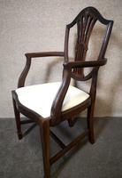 Set of Eight '6+2' Mahogany Dining Chairs in the Hepplewhite Style (7 of 15)