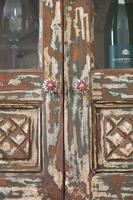 Unique Tall Two Door Teak & Painted Cabinet (13 of 16)