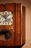 Westminster Girod Carillon Walnut, Rosewood Wall Clock French c.1940 (4 of 8)