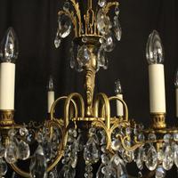 Italian Gilded & Crystal 6 Light Antique Chandelier (5 of 10)