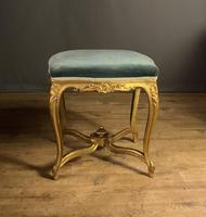 Beautiful French Giltwood Dressing Table Stool (12 of 12)