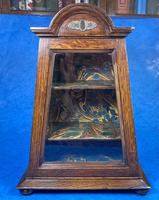 Victorian Oak Miniature Display Cabinet (2 of 11)