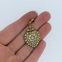 Antique Victorian Old Cut Paste Rolled Gold Heart Pendant (7 of 7)