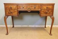 Quality Burr Walnut Side Table Writing Desk (3 of 14)