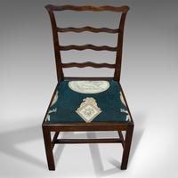 Pair of Antique Ladder Back Chairs, Irish, Mahogany, Side, Georgian c.1780 (4 of 11)