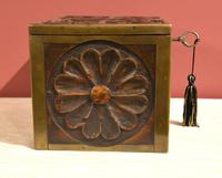 Continental 19th Century Carved Oak Casket Box (7 of 8)