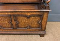 Jacobean Style Oak Monks Bench (9 of 14)