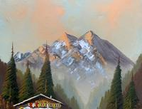 The Alpine Chalet - Swiss School - A Vintage Snow-capped Landscape Oil Painting (9 of 12)