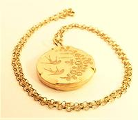 Antique Fully Hallmarked 9ct Rose Gold Locket Necklace (2 of 10)