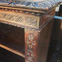 Carved Oak Adjustable Bookcase (7 of 12)