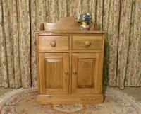 Vintage Stripped Pine Cupboard with Shaped Back (2 of 8)