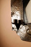 Amsterdam School Hammered Copper Wall Mirror / Sconces (12 of 13)