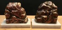 Unusual Pair 1950's Bookends in the shape of coal miners on marble bases (4 of 6)