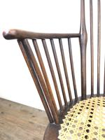 Edwardian Windsor Stick Back Armchair with Cane Seat (11 of 14)