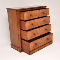 Antique Victorian Burr Walnut Chest of Drawers (10 of 11)