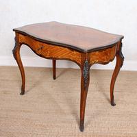 Serpentine Writing Table Louis XVI Style Inlaid Kingwood (7 of 19)